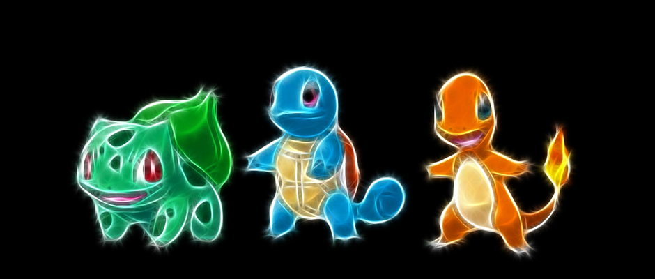 pokemon_bulbasaur_squirtle_charmander_black_background