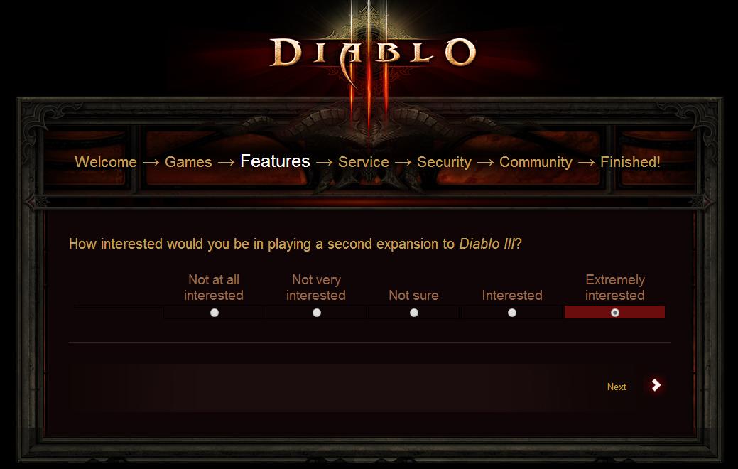 Diablo III Survey