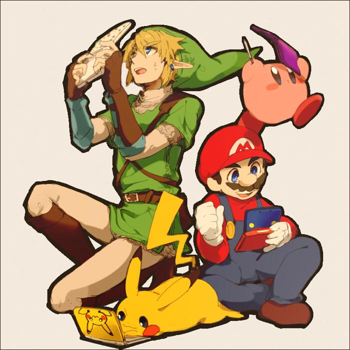 mario-link-pikachu-kirby-3ds-smash