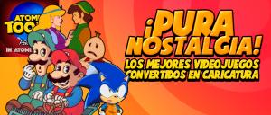 atomix_toons_nostalgia_videojuegos_convertidos_caricatura_zelda_mario_sonic