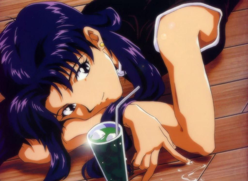 Anime Evangelion Misato Katsuragi