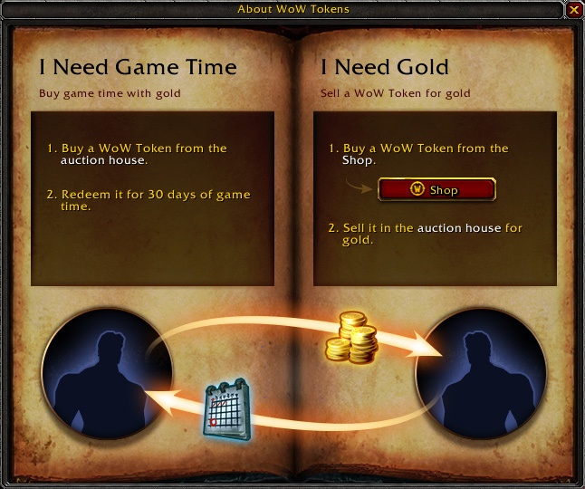 Cambia oro por días de juego en World of Warcraft