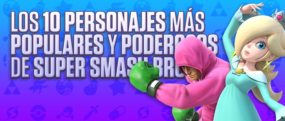 Los 10 personajes más populares y poderosos de Super Smash Bros.