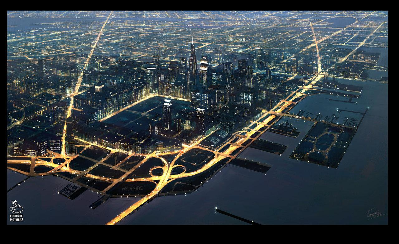 fourside-city-earthbound-by-guntama