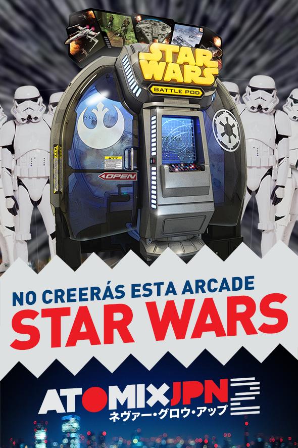 NO CREERÁS ESTA ARCADE DE STAR WARS #ATOMIXJPN2