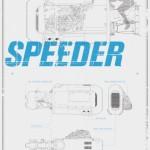 maxi-poster-star-wars-rey-s-speeder-580×872
