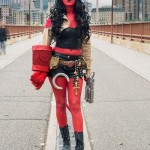 Ally's Hellboy as a girl costume. Halloween 2013