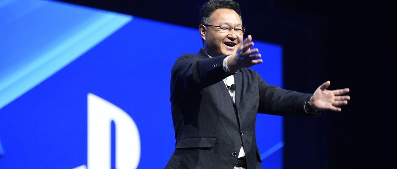 Shuhei Yoshida, president of Sony's Worldwide Studios for Sony Computer Entertainment, addresses the audience at the Sony Playstation at E3 2015 news conference at the Los Angeles Sports Arena on Monday, June 15, 2015, in Los Angeles. (Photo by Chris Pizzello/Invision/AP)