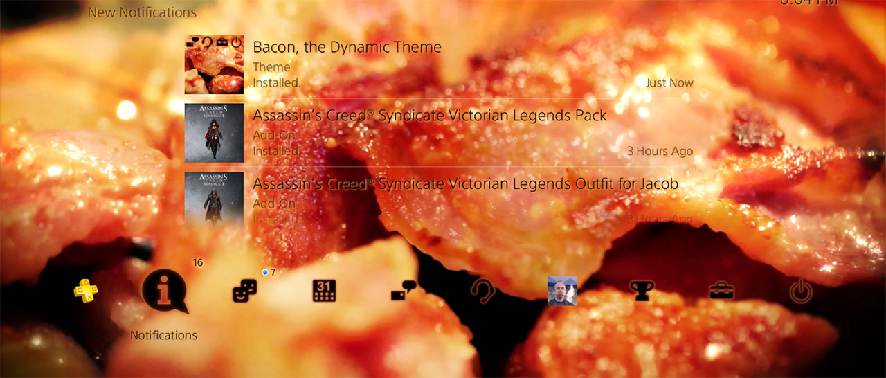 PS4_BaconTheme