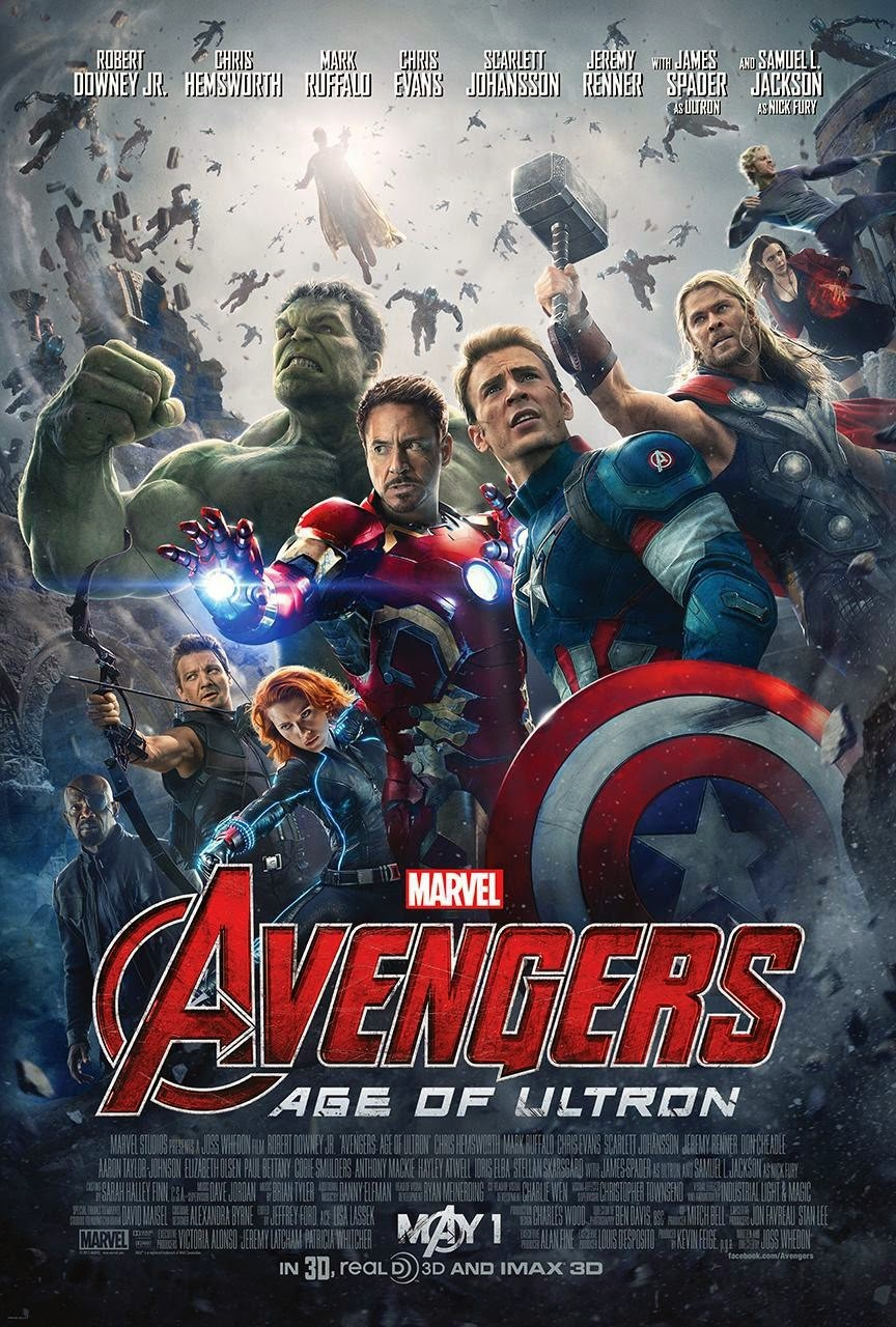 Marvel's Avengers Age of Ultron Final Theatrical One Sheet Movie Poster