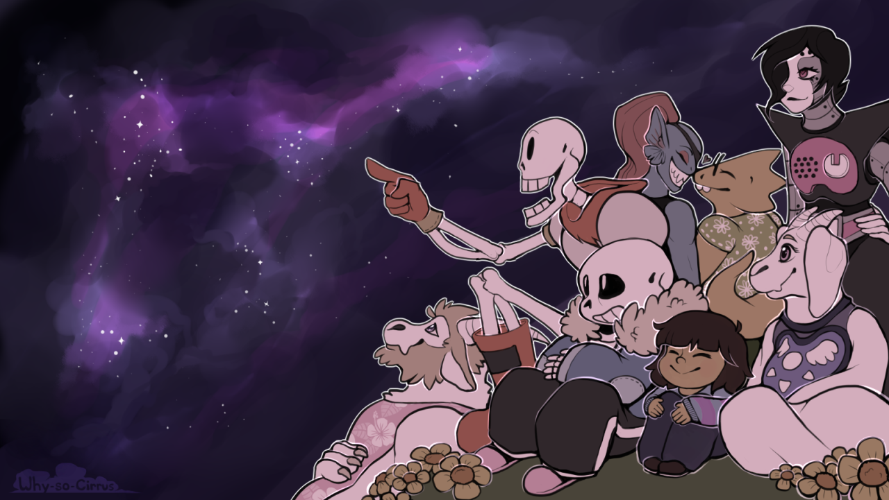 Undertale Fan Art Wallpaper Atomix