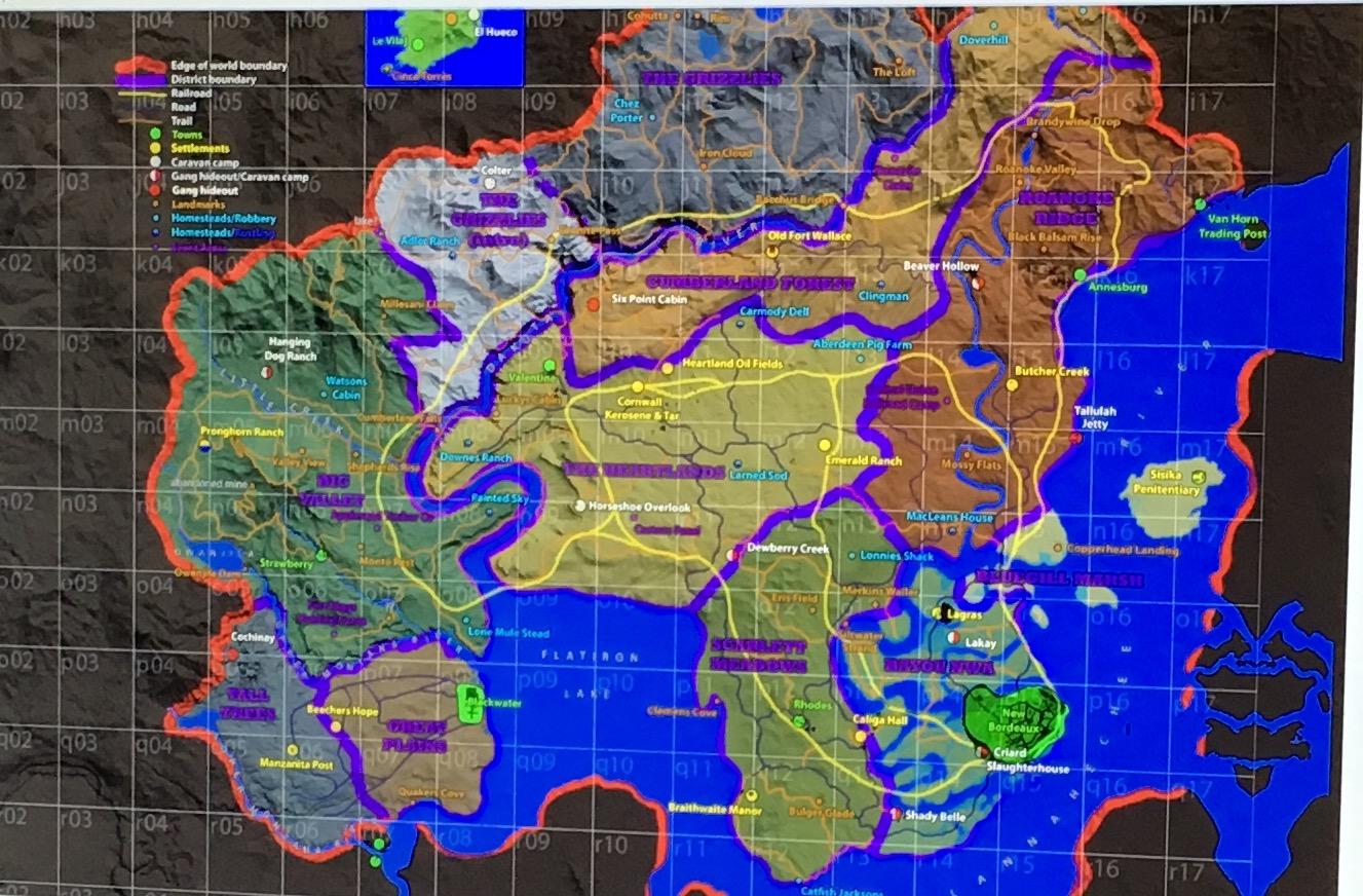 Red Dead mapa