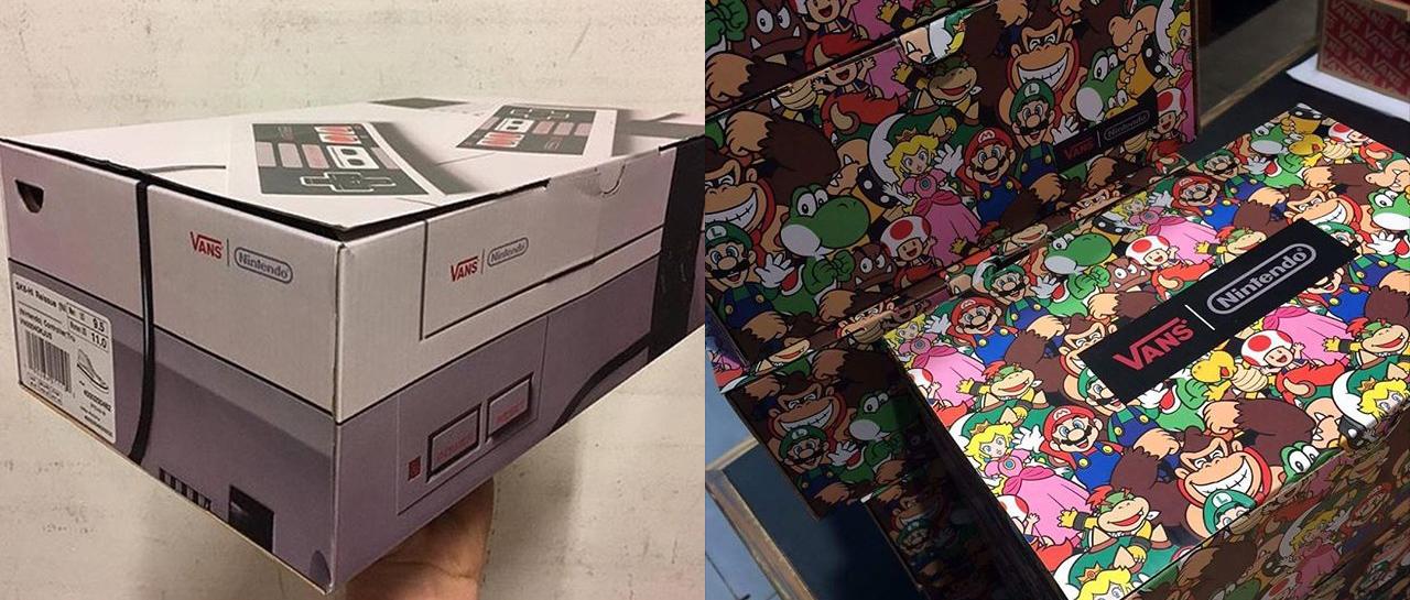 faf077602b7cb Ni la caja de tus Vans de Nintendo vas a querer tirar