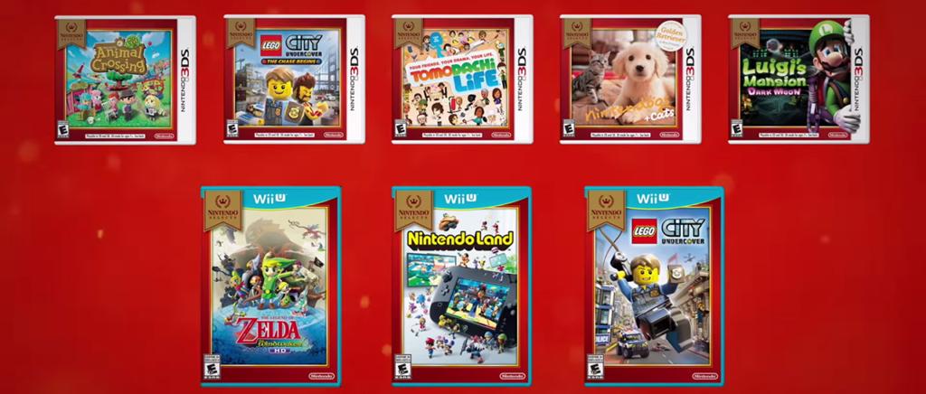 Nintendo suma ocho títulos más a su linea de Nintendo Selects