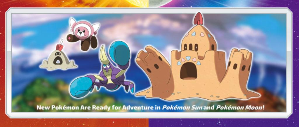 Se revelan cuatro nuevos pokémon de Pokémon Sun & Moon