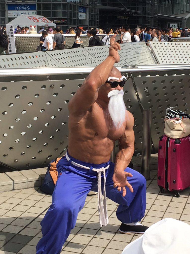 El cosplay del Maestro Roshi que rompió Japón