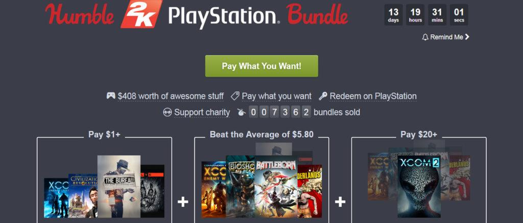 4 juegos por un dólar y más ofertas en el Humble 2K PlayStation Bundle