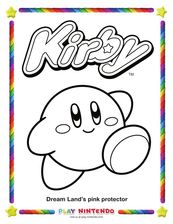 Todos a colorear con nuestro amigo Kirby | Atomix