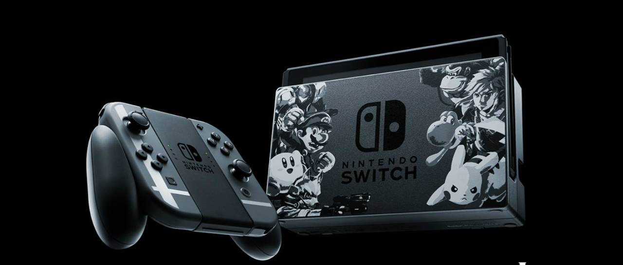 Bundle De Nintendo Switch Super Smash Bros Con Juego Incluido Atomix