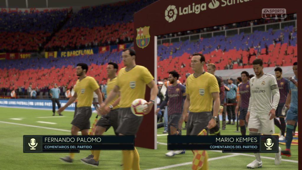 FIFA 19 Patada Inicial 0-0 BAR – RMA, 1.er tiempo