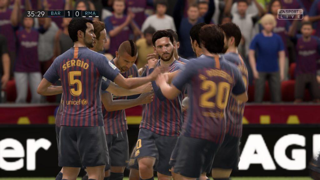 FIFA 19 Patada Inicial 1-0 BAR – RMA, 1.er tiempo