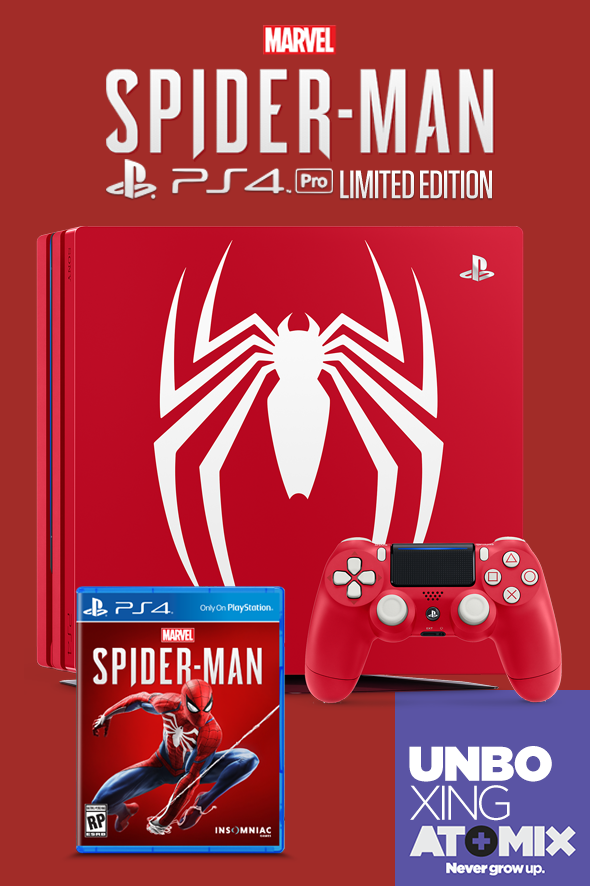 Poster Unboxing PS4 Pro Spider-Man