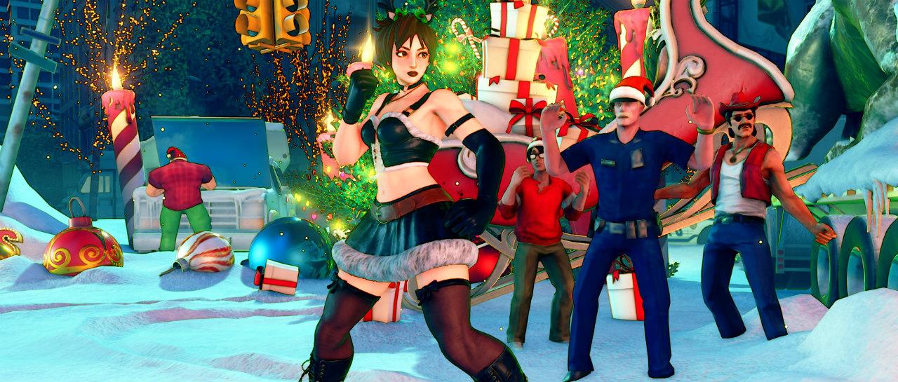 Street Fighter inicia la temporada navidea con nuevos vestuarios