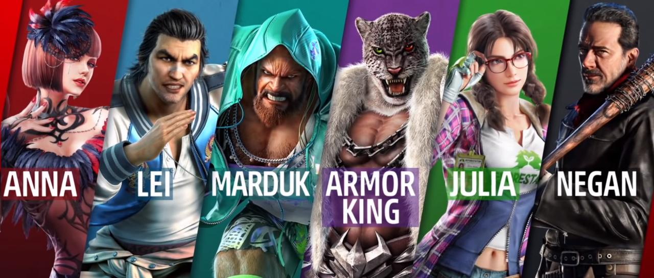 Tekken7_DLC_Marduk_ArmorKing_Julia_Negan