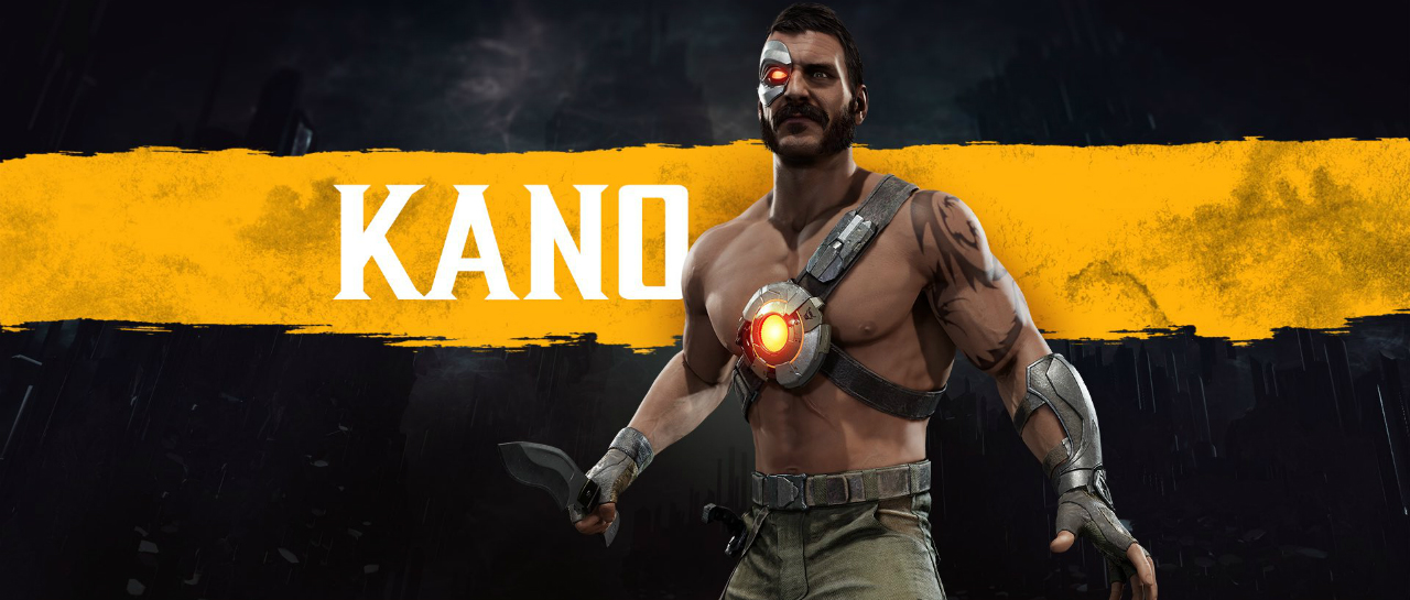 """Kano_MortalKombat11 """"width ="""" 1280 """"height ="""" 545 """"srcset ="""" https://cdn.atomix.vg/wp-content/uploads/2019/01/Kano_MortalKombat11.jpg 1280w, https://cdn.atomix.vg/ wp-content / uploads / 2019/01 / Kano_MortalKombat11-300x128.jpg 300w, https://cdn.atomix.vg/wp-content/uploads/2019/01/Kano_MortalKombat11-768x327.jpg 768w, https: // cdn. atomix.vg/wp-content/uploads/2019/01/Kano_MortalKombat11-1024x436.jpg 1024w, https://cdn.atomix.vg/wp-content/uploads/2019/01/Kano_MortalKombat11-250x106.jpg 250w, https: //cdn.atomix.vg/wp-content/uploads/2019/01/Kano_MortalKombat11-550x234.jpg 550w, https://cdn.atomix.vg/wp-content/uploads/2019/01/Kano_MortalKombat11-800x341.jpg 800w, https://cdn.atomix.vg/wp-content/uploads/2019/01/Kano_MortalKombat11-423x180.jpg 423w, https://cdn.atomix.vg/wp-content/uploads/2019/01/Kano_MortalKombat11 -705x300.jpg 705w, https://cdn.atomix.vg/wp-content/uploads/2019/01/Kano_MortalKombat11-1174x500.jpg 1174w """"sizes ="""" (width max: 1280px) 100vw, 1280px """"/></p> <p>An old familiar face, the most greedy of all, will return to <strong><em>Mortal Kombat 11</em></strong>    to show what he is capable of. It is about <strong>Kano</strong>fighter we saw debut in the first title of the deadly series of <strong>NetherRealm Studios</strong> and whose presence was announced today in the next game.</p> <p><strong>Kano</strong> returns from his last appearance in <strong><em>Mortal Kombat X</em></strong>. Although at the time no more details about the character were revealed, it is to be assumed that he has an important role in history and that he has a particular connection with <strong>Sonya Blade</strong>, female character that will be fundamental <em><strong>MK11</strong> </em>and with whom he used to have a huge rivalry.</p> <p>In addition to confirming the character, <strong>WB Games and NetherRealm</strong> they revealed one of the special costumes they will have <strong>Kano</strong> and this is based on the canga<i>W</i>thieves, bandits of <strong>Brazil<"""