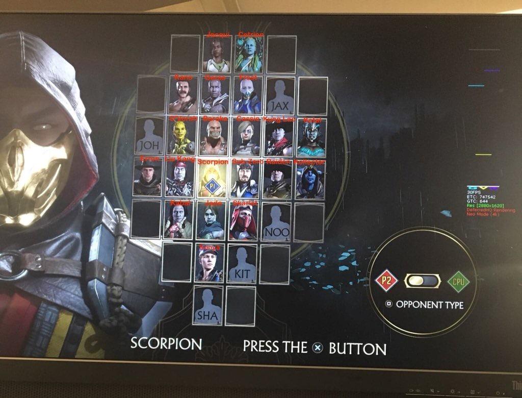 Spoilers Full MK11 Roster Leak