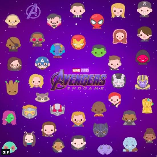 Avengers Endgame Emojis Atomix