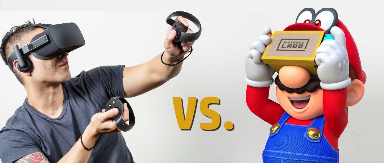 Oculus vs Labo VR Atomix