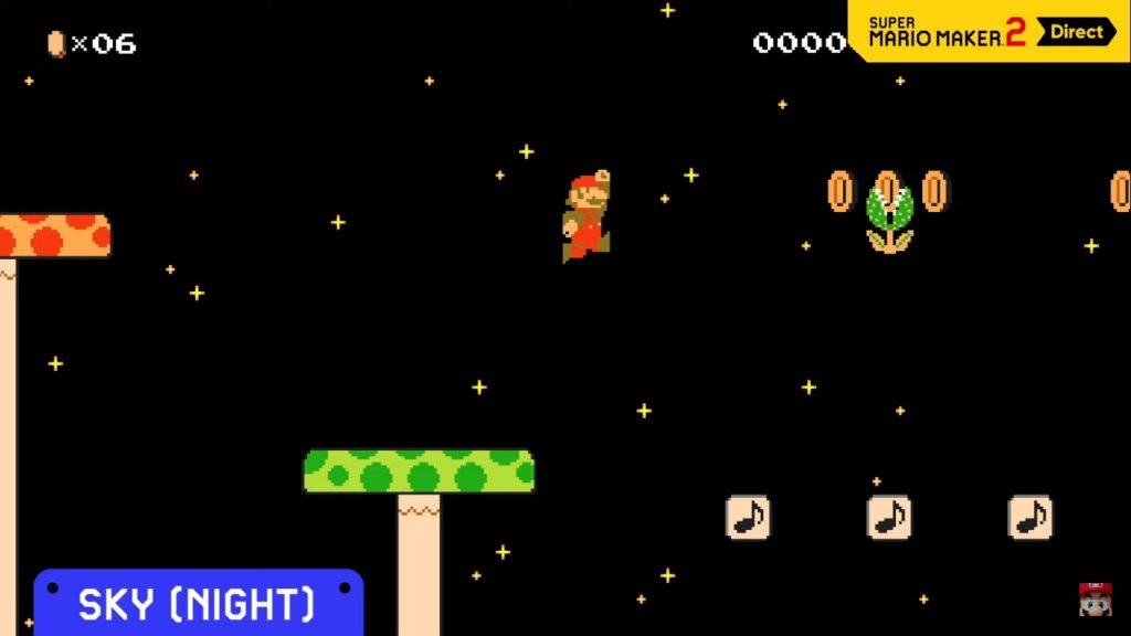 Super Mario Maker 2 Noche