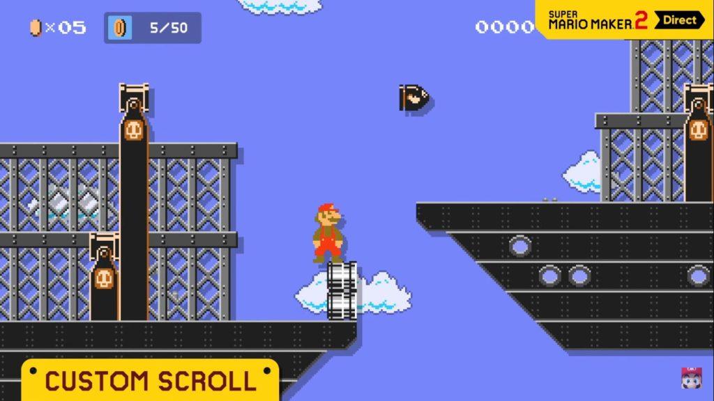 Super Mario Maker 2 Scroll