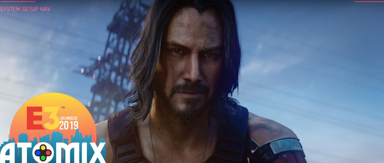 Cyberpunk 2077 Keanu Reeves E3 2019 Atomix