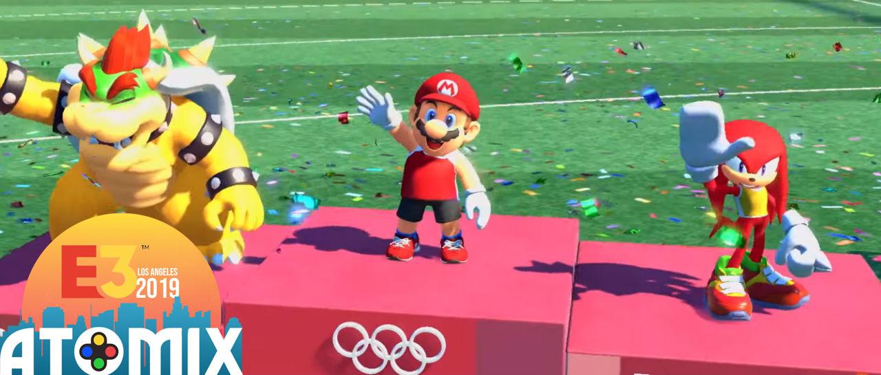 Mario and Sonic Tokyo 2020 E3 2019 Atomix