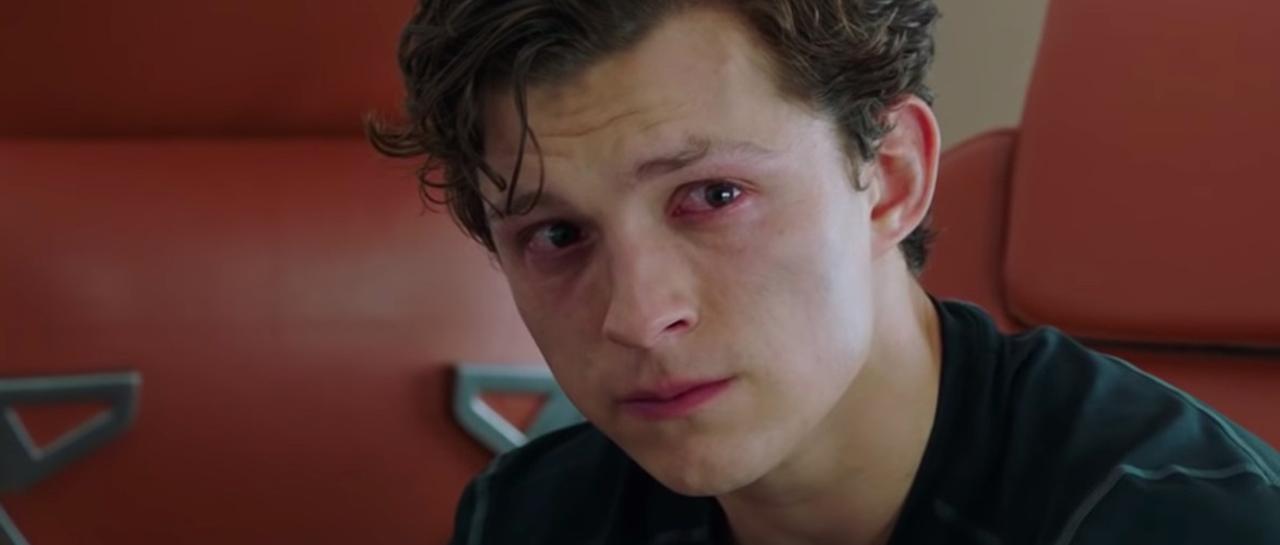 spiderman cry