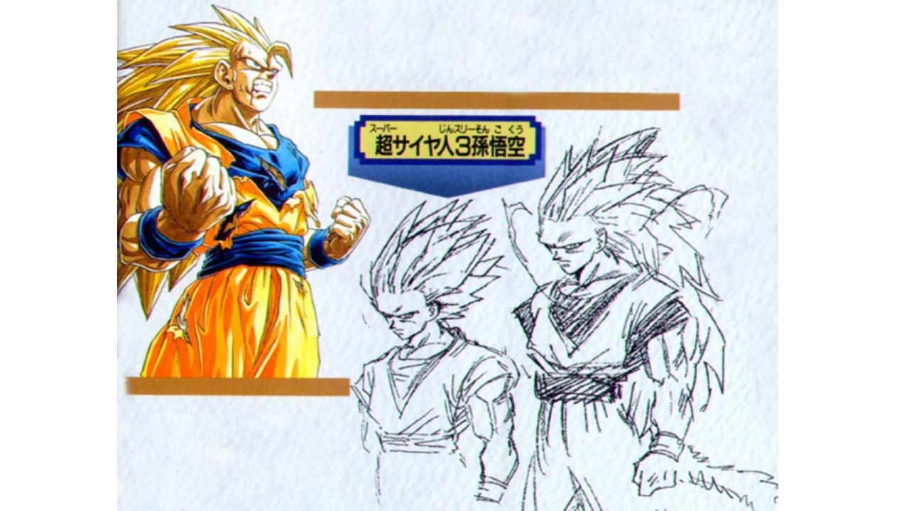 Asi-lucian-los-bocetos-originales-del-Super-Saiyajin-3-