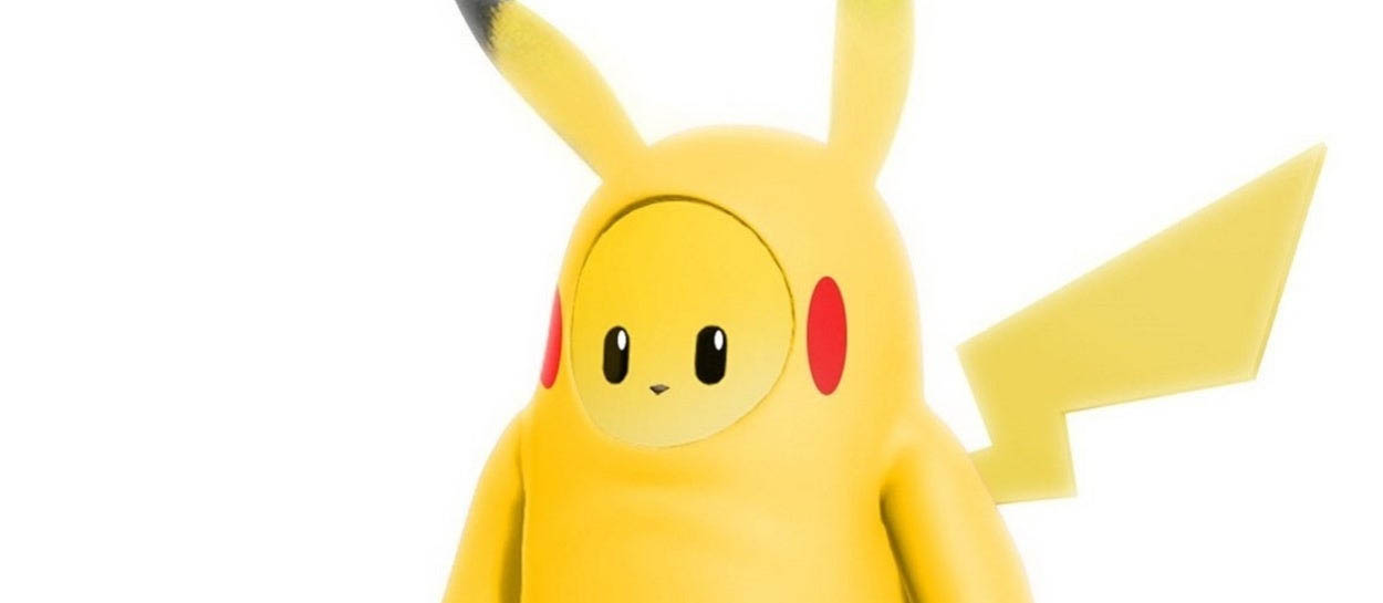 fall guys pikachu