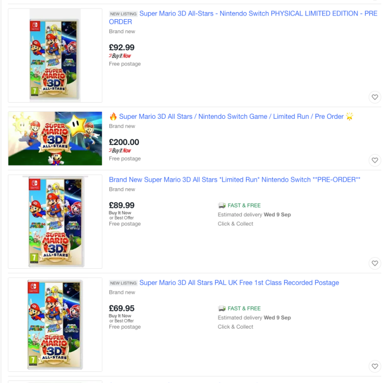 Prices skyrocketing on resale of Super Mario 3D All-Stars – Archyde