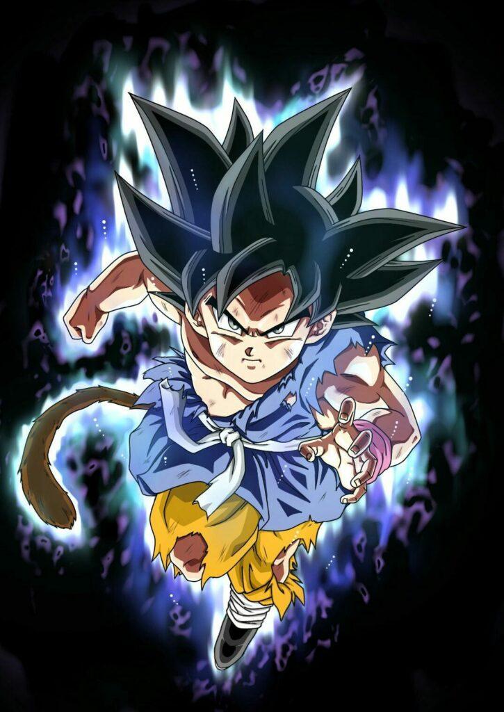 Dragon-Ball-GT-Artista-imagina-a-Goku-nino-dominando-el-Ultra-Instinto-2