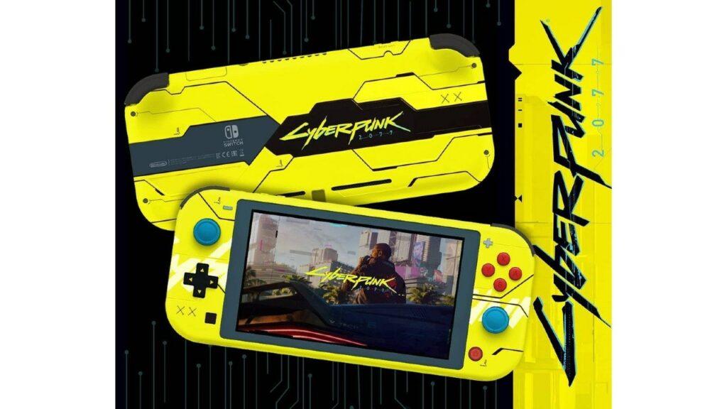 Nintendo-Switch-Lite_-Fanatico-crea-edicion-especial-inspirada-en-Cyberpunk-2077