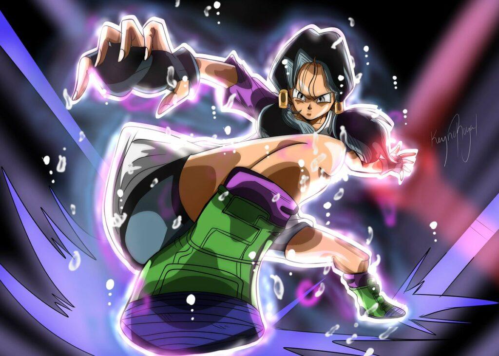 Dragon-Ball-Artista-imagina-a-Videl-alcanzando-el-Ultra-Instinto-en-pleno-combate-