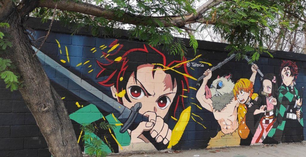 Mural-Demon-Slayer-Mexico