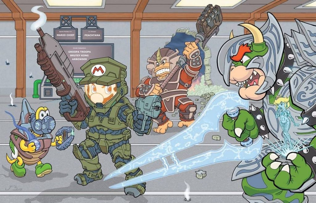 Official-Halo-Account-Shares-A-Crossover-with-Super-Mario-Bros.